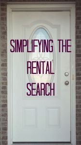 simplifying the rental search